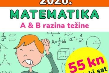DRŽAVNA MATURA IZ MATEMATIKE (pripreme-55 kn/šk.sat)