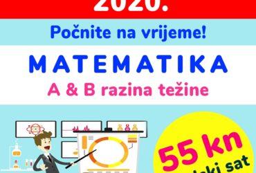 Pripreme iz MATEMATIKE za državnu maturu (A i B razina težine), 55 kn/šk.sat