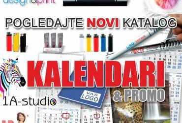 Trodjelni kalendari, zidni i poslovni kalendari, rokovnici, olovke i upaljači