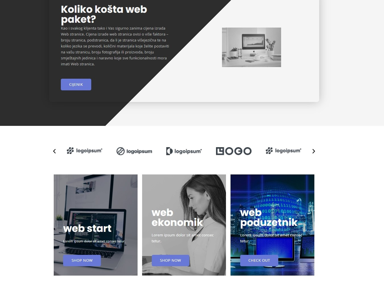 Izrada modernih poslovnih internet stranica. Web dizajn. Wsd web studio.